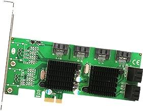 Syba SD-PEX40104 PCI-Express 8-Port Internal SATA 6Gbps Dual Chipset PCI-E V2.0 x 1 Slot Controller Card