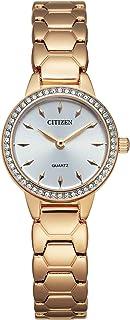 Citizen Women's Quartz Stainless Steel Strap, Rose Gold, 12 Casual Watch (Model: EZ7013-58A)