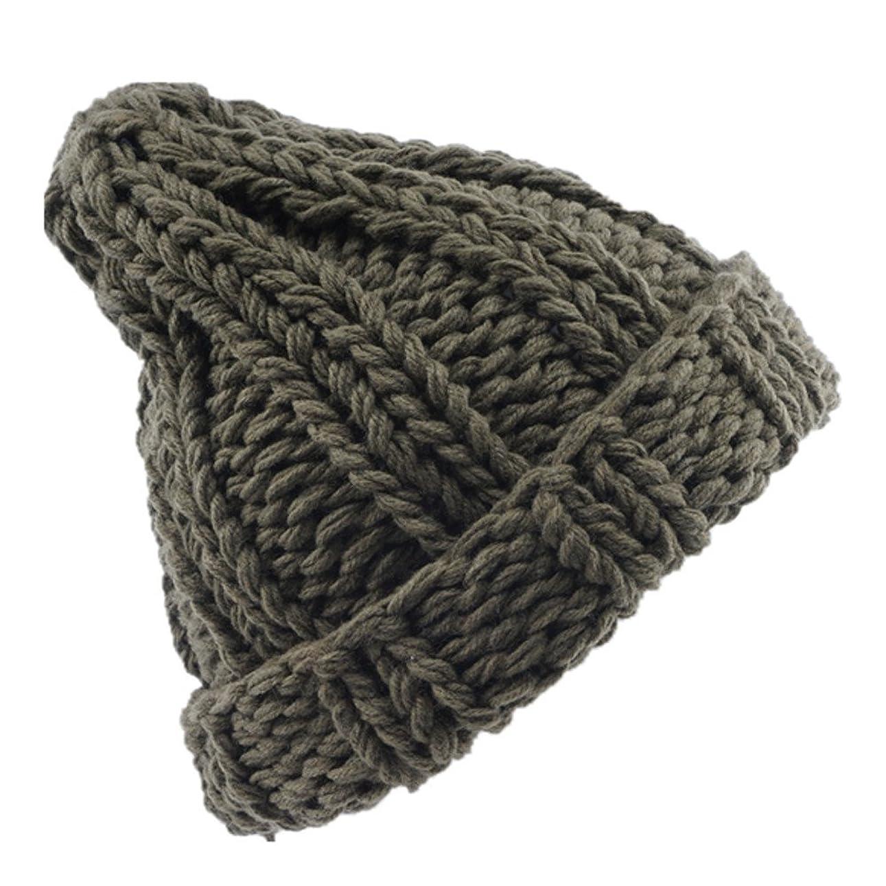 気晴らし驚くばかり従事するRacazing 選べる4色 ニット帽 縮らす ニット帽 防寒対策 通気性のある 防風 暖かい 軽量 屋外 スキー 自転車 クリスマス 編み物 ベレット Hat 男女兼用 (グリーン)