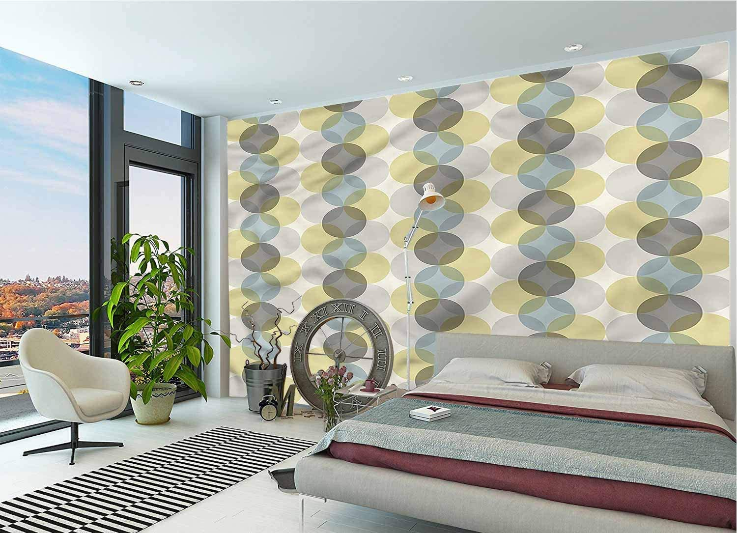 LCGGDB Circle Wall Mural Decal Max 86% OFF Peel 40% OFF Cheap Sale Design Midcentury an Fifties