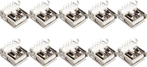 10 conectores USB tipo A hembra PCB de 4 pines, 90 grados