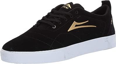 Lakai Footwear Bristol Black/Gold Suedesize Tennis Shoe