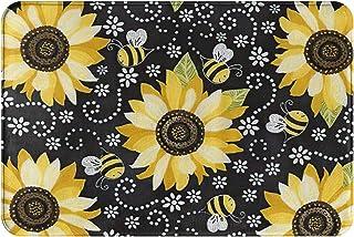 Sunflower and Bees Home Doormat for Indoor/Outdoor Bathroom/Kitchen/Bedroom/Entryway Floor Mats Non-Slip Door Mat Cartoon ...