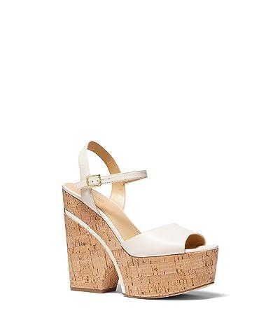 MICHAEL Michael Kors Lana Wedge (Light Cream) Women