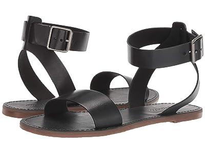 Madewell The Boardwalk Ankle-Strap Sandal (True Black) Women