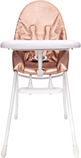 Bloom Nano Foldable Modern Baby Highchair for Urban Living (Special Edition) (White Frame Rose Gold)
