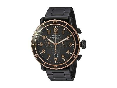 Shinola Detroit The Runwell Sport Chronograph 48mm 20089903 (Sandblast PVD Gunmetal Bracelet/Stone Dial) Watches