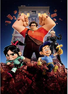 Wreck-it Ralph Theme Birthday Backdrop for Photography 5x7 Night Cityscape Photography Background Broken Floor Photo Backdrops