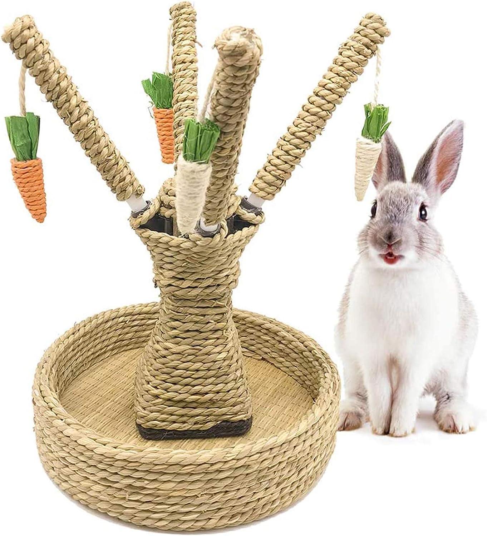 Hamiledyi Rabbit Bunny Chew Toys Rattan Grass Scratcher Climbing