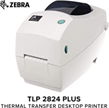 Zebra - TLP2824 Plus Thermal Transfer Desktop Printer for Labels, Receipts, Barcodes, Tags, and Wrist Bands - Print Width of 2 in - USB and Ethernet Port Connectivity