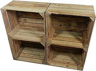 4 x masivas - cajas de madera usados - Cajas de vino - para