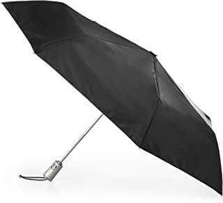 totes Automatic Open Close Water-Resistant Travel Folding Umbrella with Sun Protection, Black (Black) - 8706