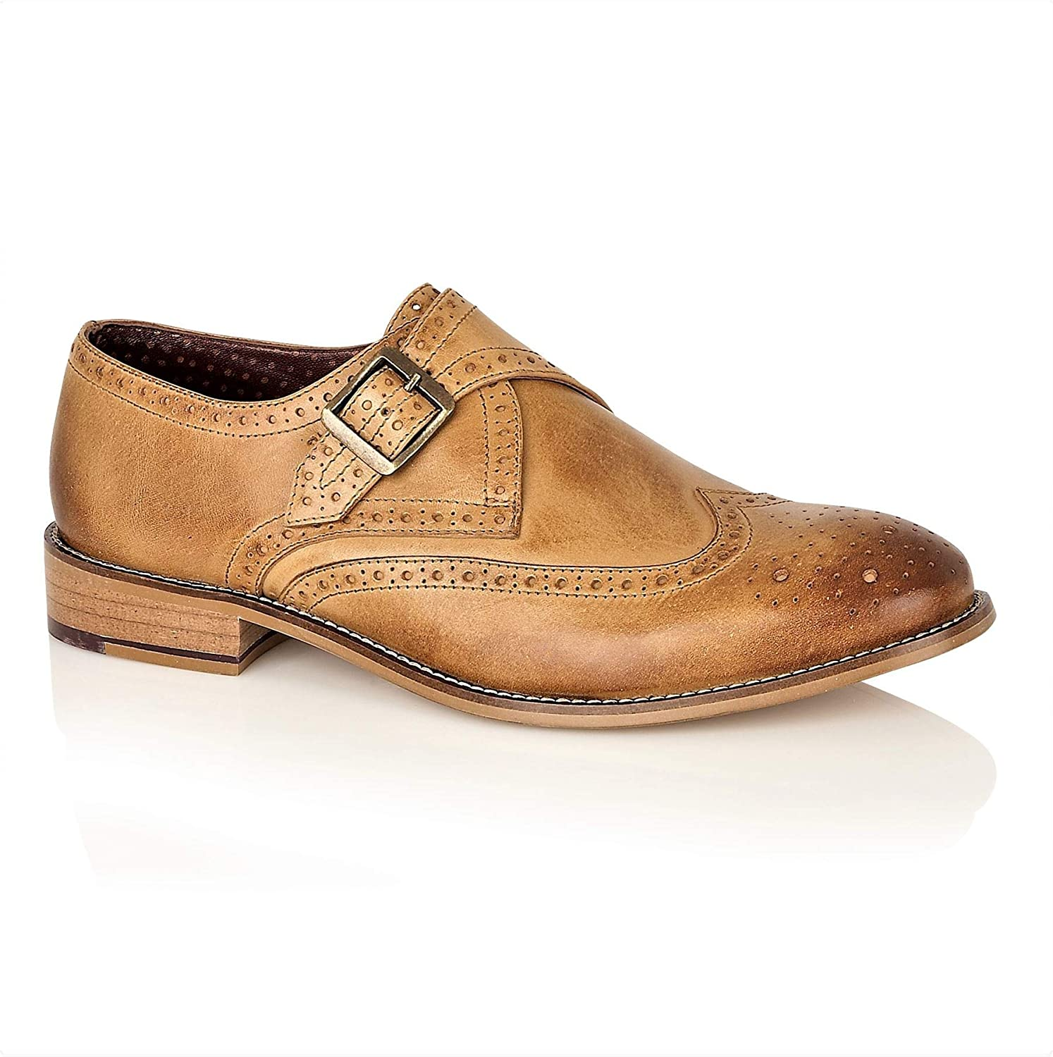 London Brogues Sky Walker Gatsby Mens Leather Wingtip Lace Up Slip On Brogues Two Tone Colour Tassel shoes Size 7 to 15