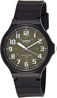 Casio Men's Green Dial Resin Band Watch - MW-240-3BV