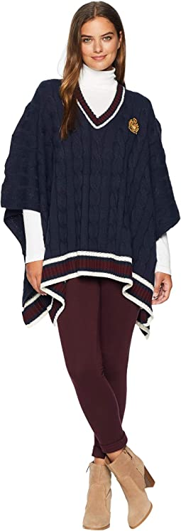 Cricket Stripe Sweater Poncho