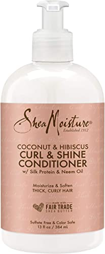 SheaMoisture 13 oz Coconut & Hibiscus Curl & Shine Conditioner product image