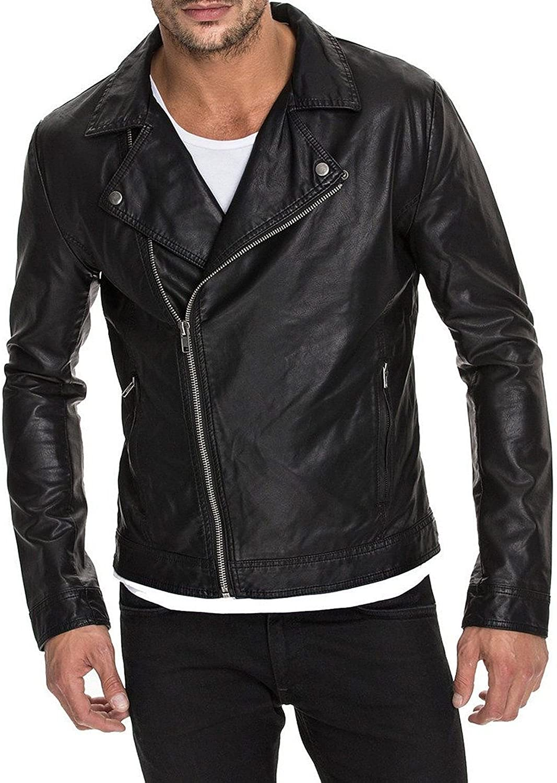 Zafy Leather Men's Green Lambskin Leather Jacket