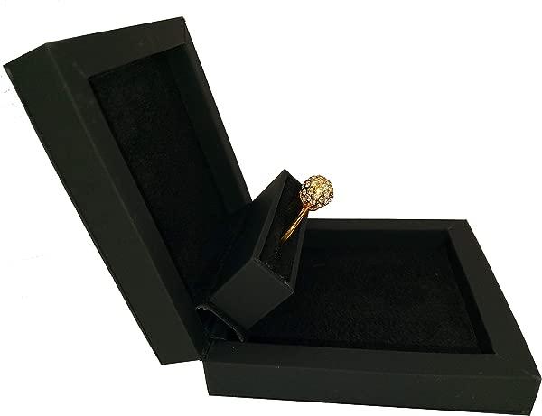Slim Hidden Proposal Engagement Ring Box Black