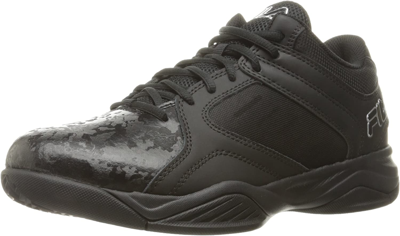Fila Hommes's Bank Basketball chaussures, noir noir Metallic argent, 8 M US