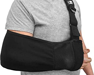Best Ergonomic Arm Sling Medical Support Strap for Men and Women. Comfortable Immobilizer with Adjustable Slings for Shoulder, Arm, Elbow, Rotator Cuff Pain. Fits Left, Right Arms. Fractures, Dislocation Review