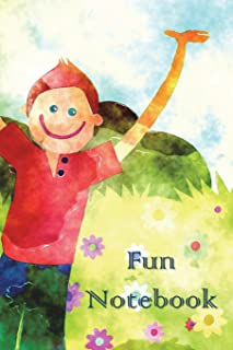 Fun Notebook: Boys Books - Mini Composition Notebook - Ages 6 -12 - Happy Kids