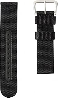 Genuine SEIKO 4A211JL 22mm Black Nylon Band | SNZG15 Military Watch Strap