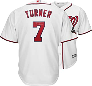 Trea Turner Washington Nationals Autographed 2019 World Series Champions White Majestic Replica Jersey - Fanatics Authentic Certified