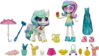 "My Little Pony Equestria Girls Princess Celestia Potion Princess Set -- 3"" Mini Doll & Toy Pony Figure with 20 Accessories"