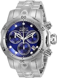 Invicta Men's Venom Quartz Watch with Stainless Steel Strap, Silver, 22 (Model: 29626)