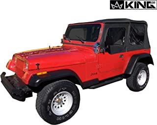 King 4WD Replacement Soft Top in Black Diamond - YJ 1987-1995 Jeep Wrangler
