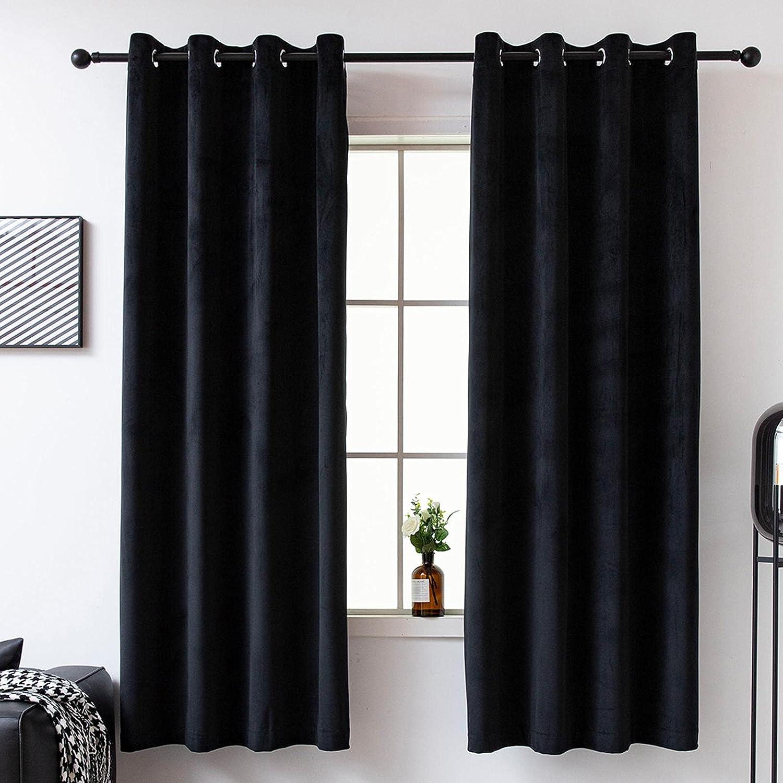 Blackout Velvet Curtain 108 inch Long for Darkening Room Living Mail order cheap New mail order