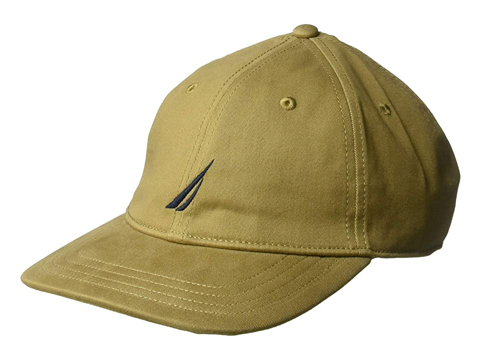 Nautica J Class 6 Panel Hat (Oyster Brown) Caps