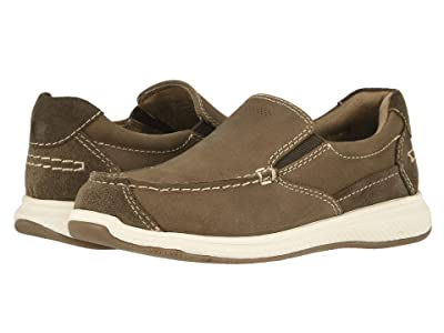 Florsheim Kids Great Lakes Moc Slip, Jr. (Toddler/Little Kid/Big Kid) (Stone Crazy Horse/Suede) Boy