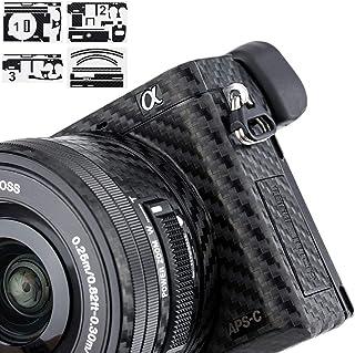 Adhesivo de protección antiarañazos para cámara Sony Alpha A6000 + Lente de 16-50 mm de Fibra de Carbono Antideslizante