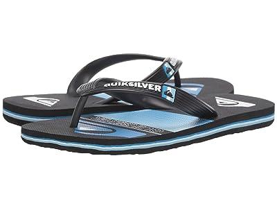 Quiksilver Kids Molokai Layback (Toddler/Little Kid/Big Kid) (Black/Blue/White 2) Boys Shoes