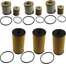 JDMSPEED New Fuel & Oil Filter Replacement 3 of Each FD4616 FL2016 Fit For Ford 6.0L Turbo Diesel