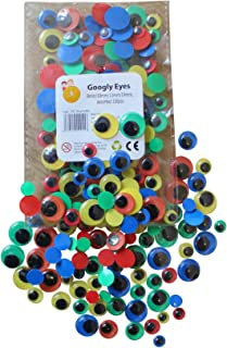 100 Googly Eyes Coloured With Black Pupil 8mm 10mm 12mm 14mm