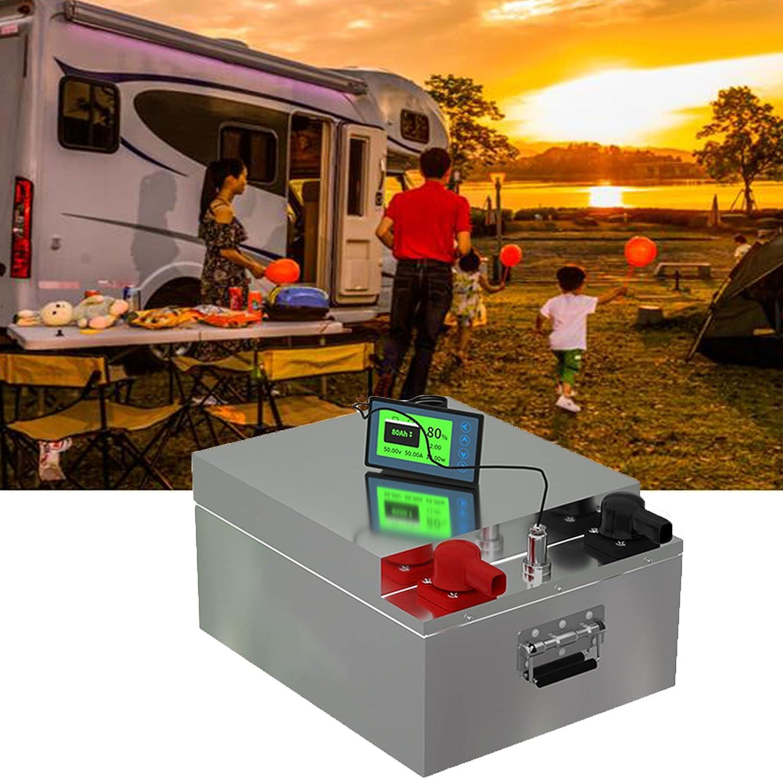 NCBH 12V 24V 200ah Batería LiFePO4 de Ciclo Profundo,Baterías Recargables de Iones de Litio para vehículos recreativos/Marinos, BMS Incorporado, sin Mantenimiento