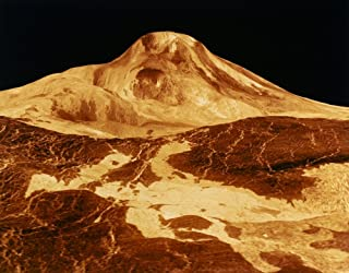 Space Venus 1991 Na View Of Maat Mons On Venus Computer Simulated Image Produced By The Jet Propulsion Laboratory 1991 Poster Print by (18 x 24)