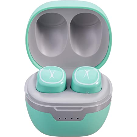 Altec Lansing NanoPods Truly Wireless Earbuds with Charging Case, TWS Waterproof Bluetooth Earphones with Touch Controls for Travel, Sports, Running, Working (Mint)