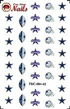 Dallas Cowboys Waterslide nail decals (Tattoos) V4 (Set of 40)
