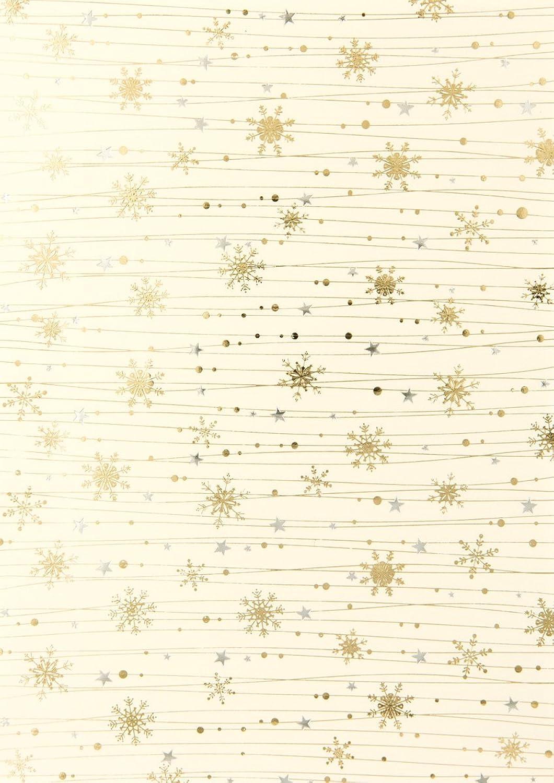 Rössler Papier - - W-Kreativblatt DIN A4,Linien Kristalle ivory (HF Gold-silb.) - Liefermenge  50 Stück B07CX7NJ69  | Glücklicher Startpunkt
