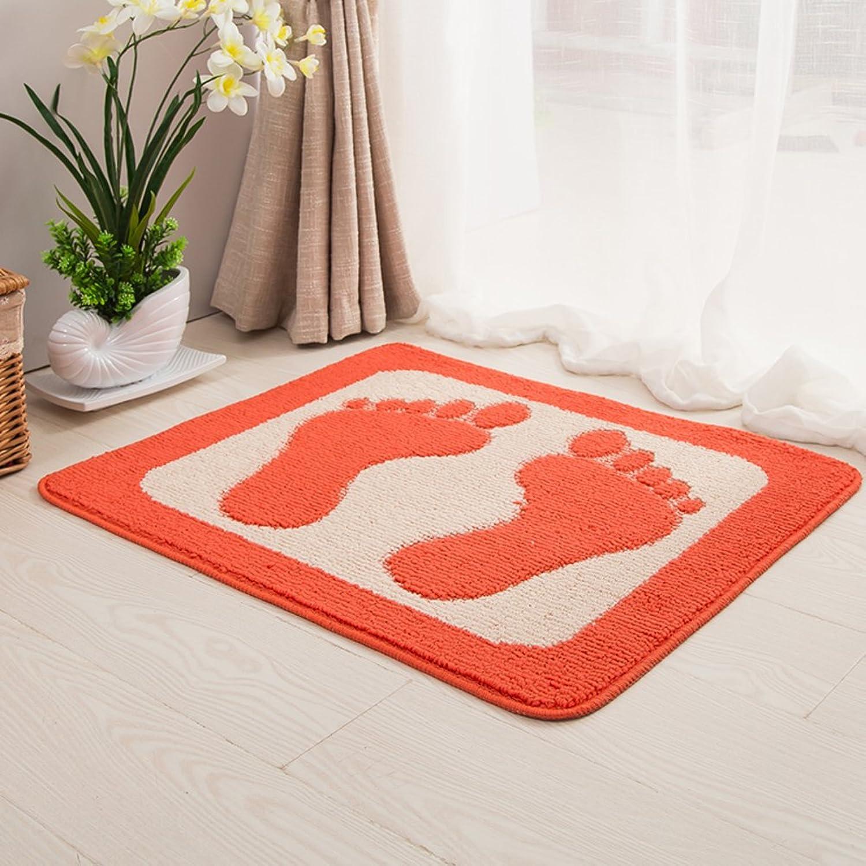 Mats Beside The Bed Entrance Carpet Bathroom Carpet [Hall] Kitchen Water-Absorbing mats Bathroom Toilet Anti-Slip mat-C 60x70cm(24x28inch)
