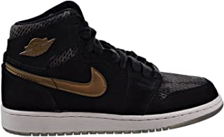 Air 1 Retro High Premium HC Big Kids Shoes Black/Metallic Field 832596-030