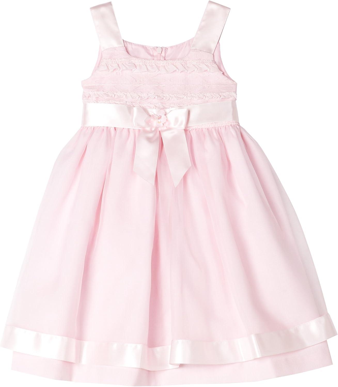 Bonnie Jean Little Girls' Little Girls' Pink Linen Dress