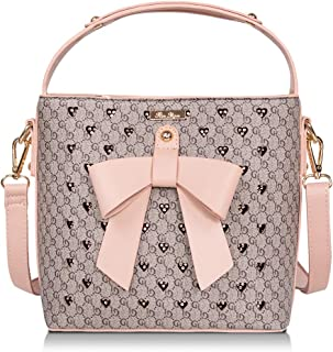 Pink Purses and Handbags for Women Fashion Ladies PU Leather Top Handle Satchel Shoulder Tote Bags