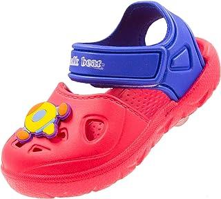 Effeltch Toddler Boys Girls Kids Sandals Summer Closed Toe Anti-Slip Lightweight Beach Swim Pool Clog Water Shoes for Kids
