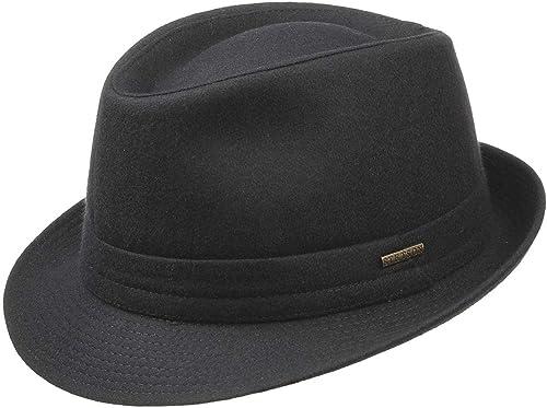 Stetson Benavides Trilby Sombrero Mujer/Hombre - Sombrero de Fieltro de Lana - Fabricado en Italia - Sombrero de Homb...