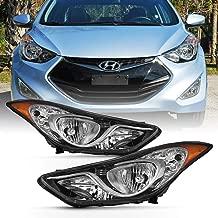 ACANII - For 2011-2013 Hyundai Elantra 4-Door Sedan Factory Style Headlights Headlamps Set Pair Driver & passenger Side