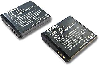 INTENSILO 2x Baterías Li-Ion 1000mAh (3.7V) para cámara videocámara Canon Powershot SX540HS SX540 HS y NB-6L.
